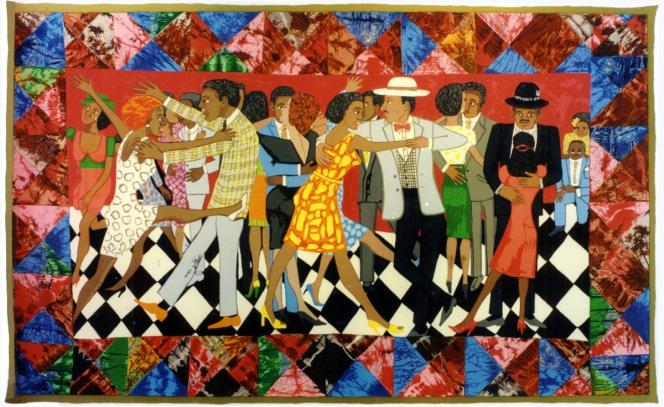 Faith-Ringgold-Groovin-High-1996-Silkscreen-Courtesy-of-ACA-Galleries-New-York